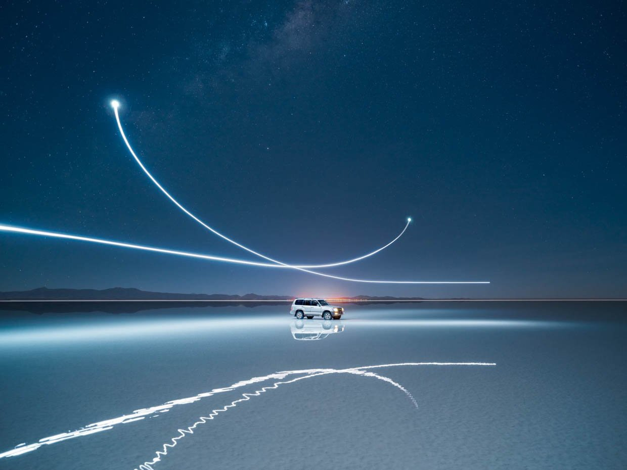 Long-Exposure Drone Photography
