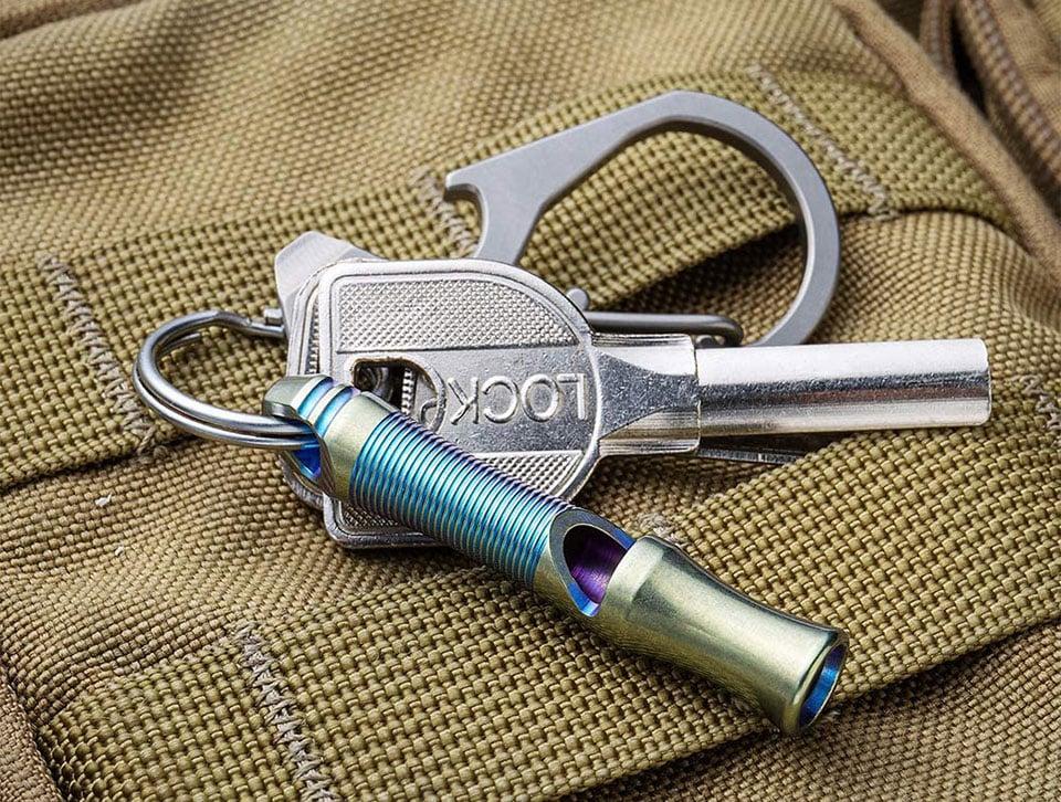 Tacray TC4 Titanium Whistle