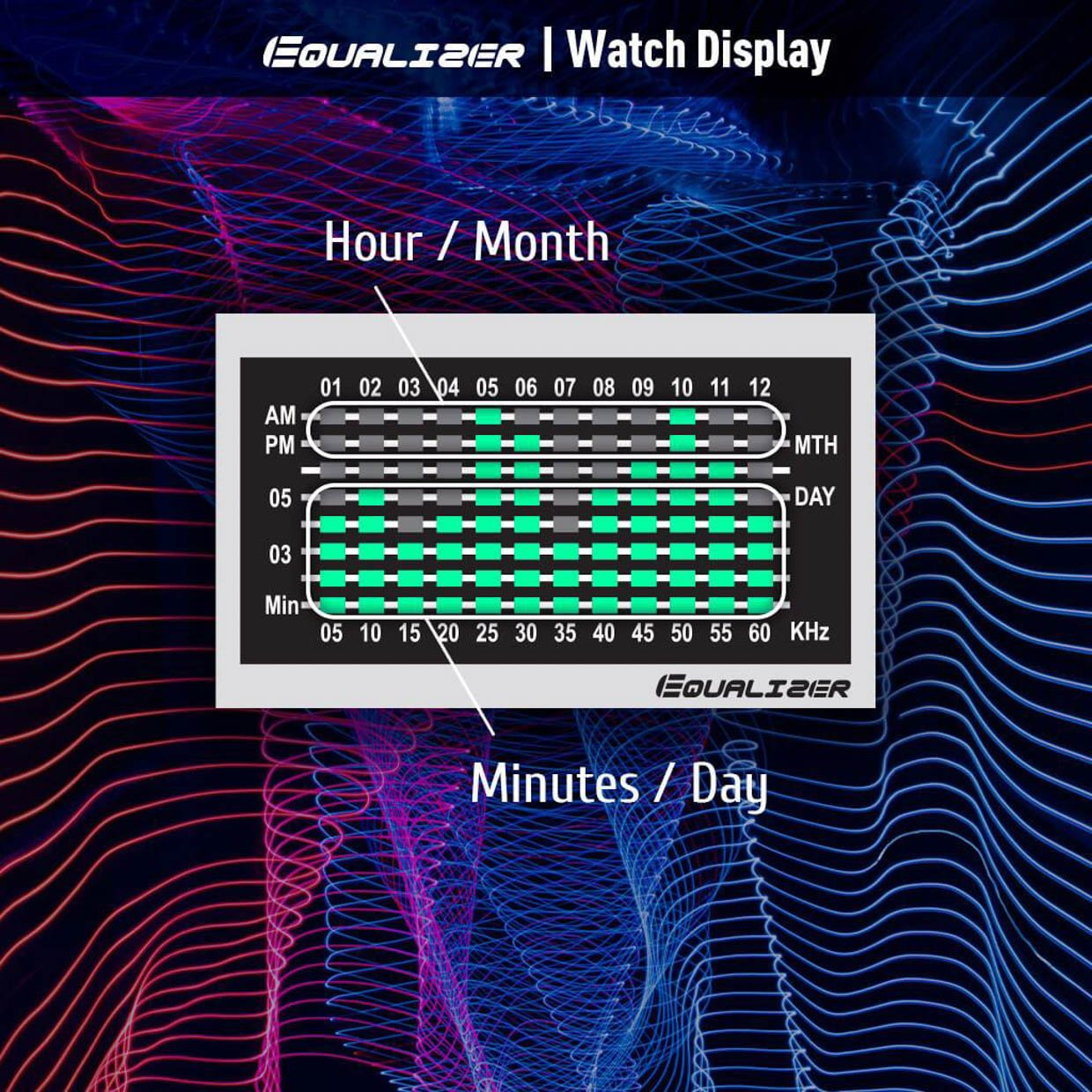 Equalizer High Frequency LCD watch