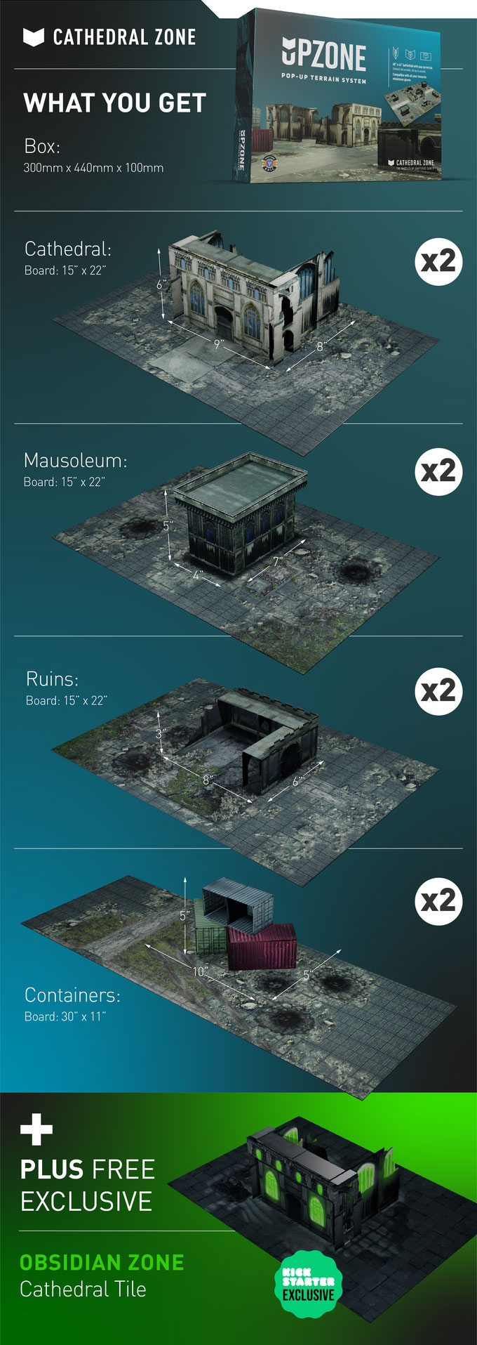 Upzone Pop-up Game Terrain System