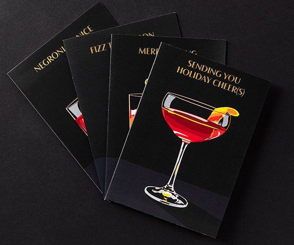 Bitter Cocktails Holiday Cards