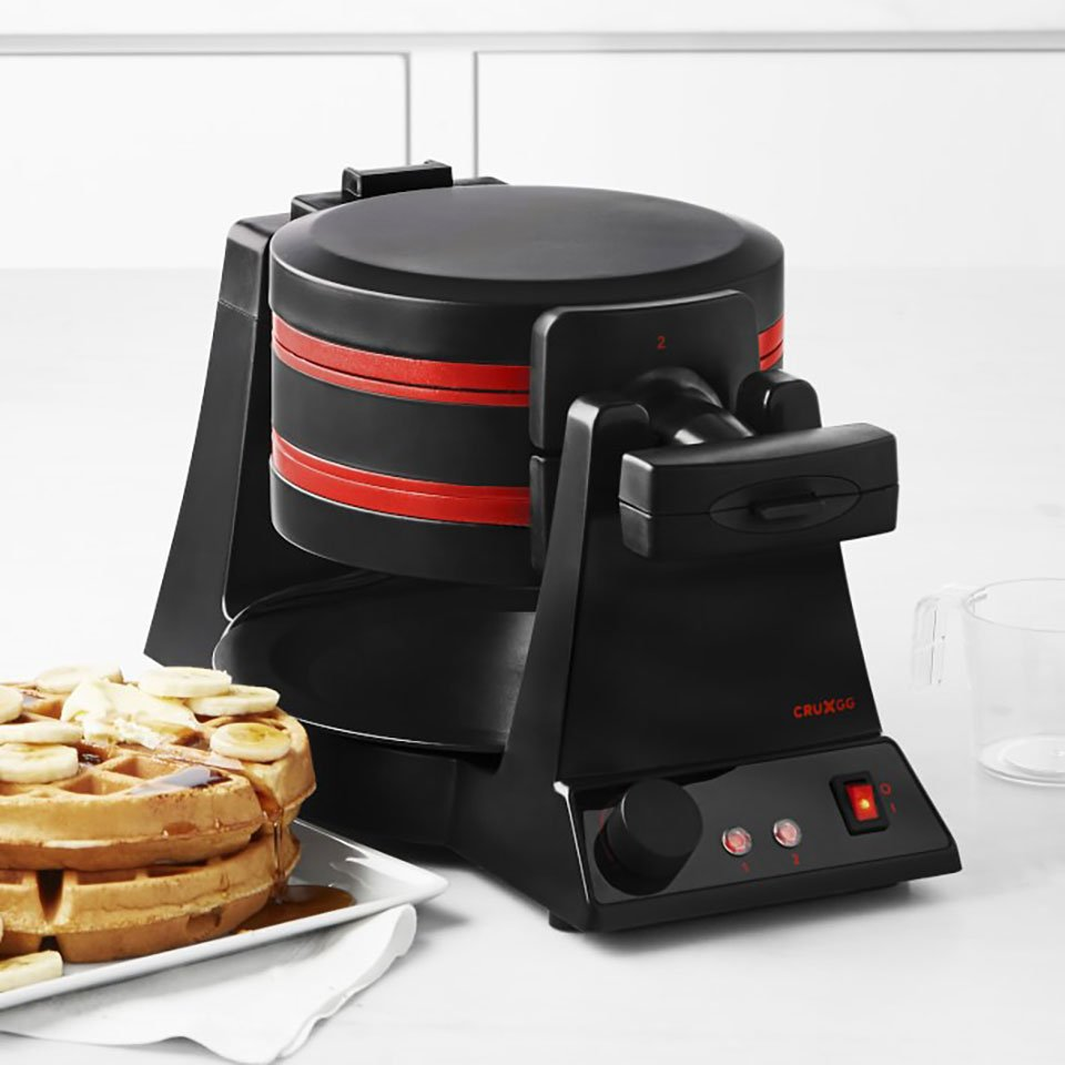TRNR Double Rotating Waffle Maker