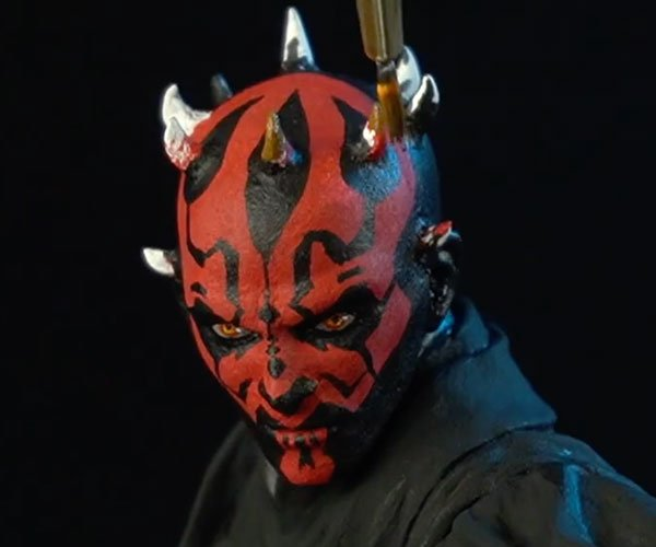 Sculpting Darth Maul