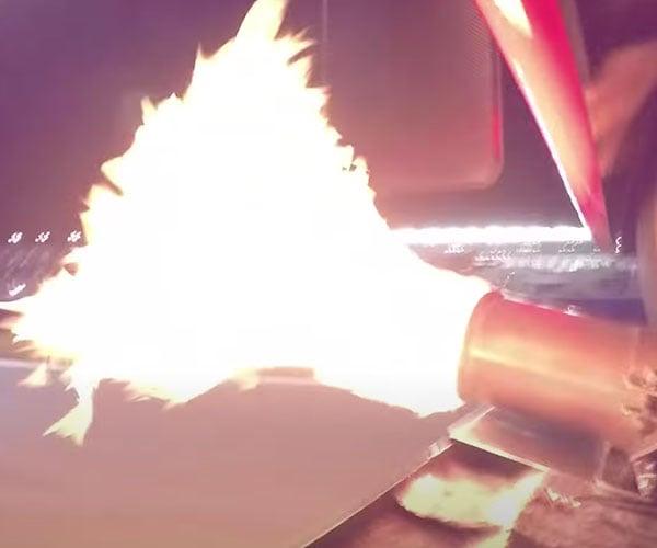 V12 Ferrari Spits Flames