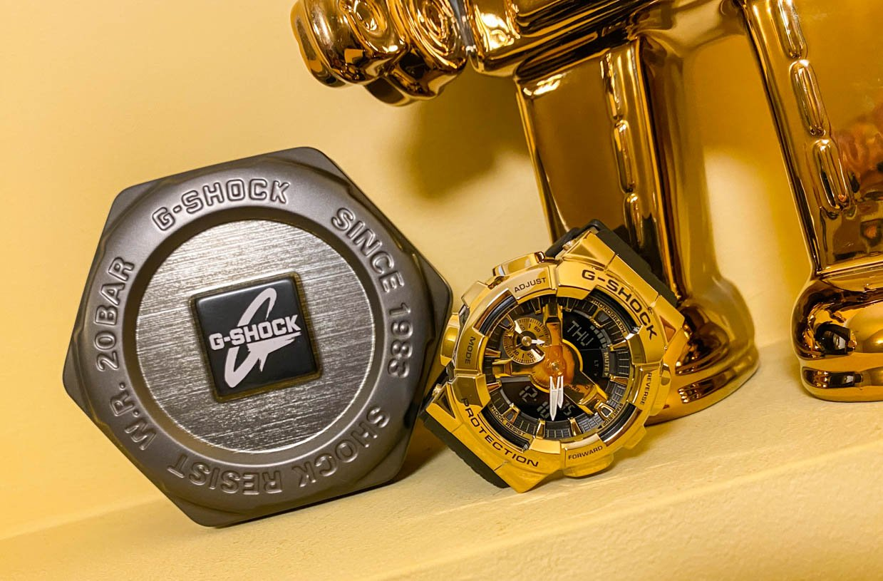 G-SHOCK GM110G Gold Analog-Digital Watch