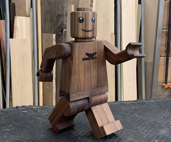 Making a Giant Wood LEGO Minifig