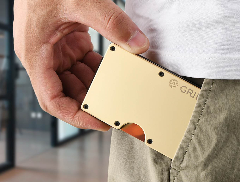 GRID Slim Copper Wallet