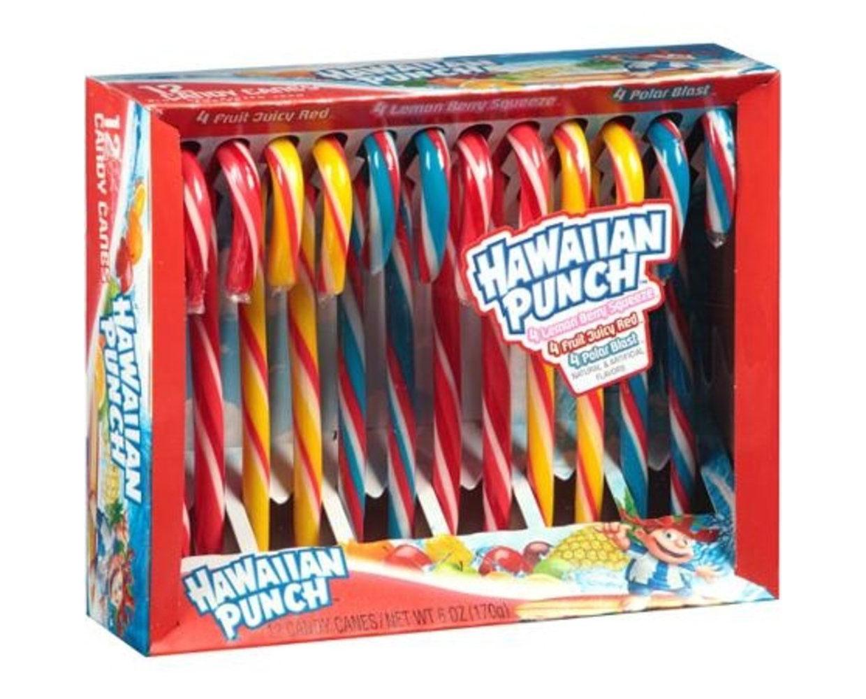 Hawaiian Punch Candy Canes
