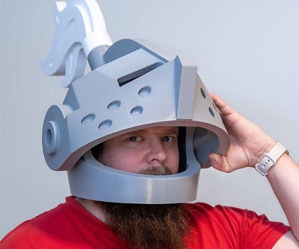 Life-size LEGO Knight Helmet
