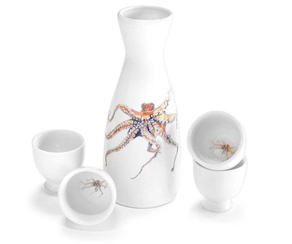 Octopus Sake Set