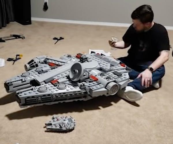 Giant LEGO Millennium Falcon