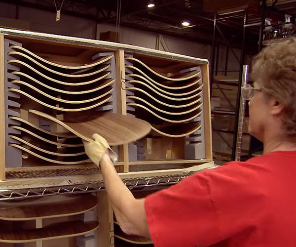 How the Eames LCW Chair is Made