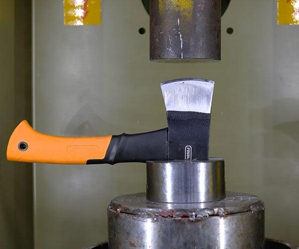 Hydraulic Press vs. Axes
