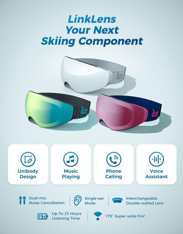 LinkLens Audio Snow Goggles