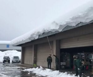 Roof Snow Avalanche