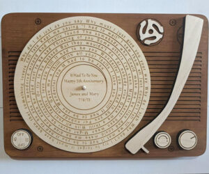 Song Lyric Turntable Art