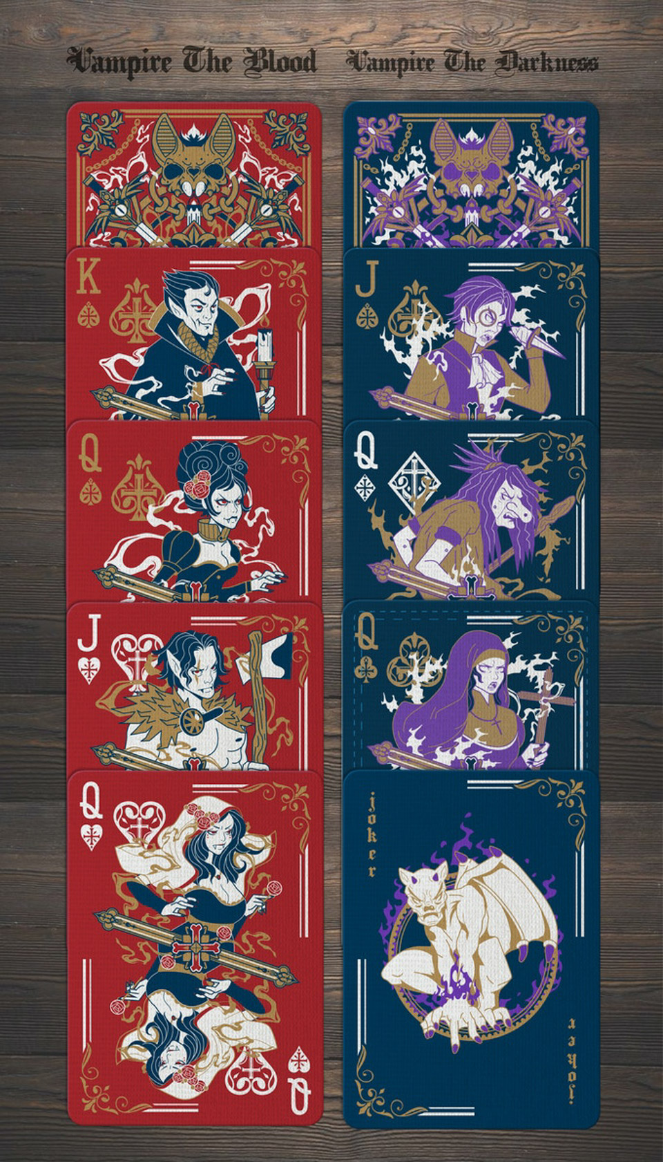 Vampire Playing Cards (Western)