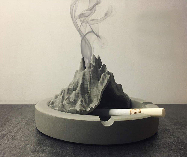 Smoking Volcano Ashtray