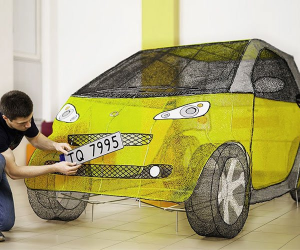3D Drawing a Life-size Smart Car