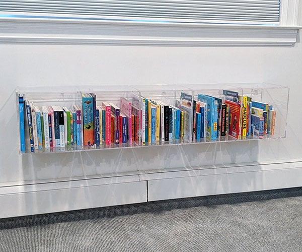 Mink and Maple Acrylic Bookshelf