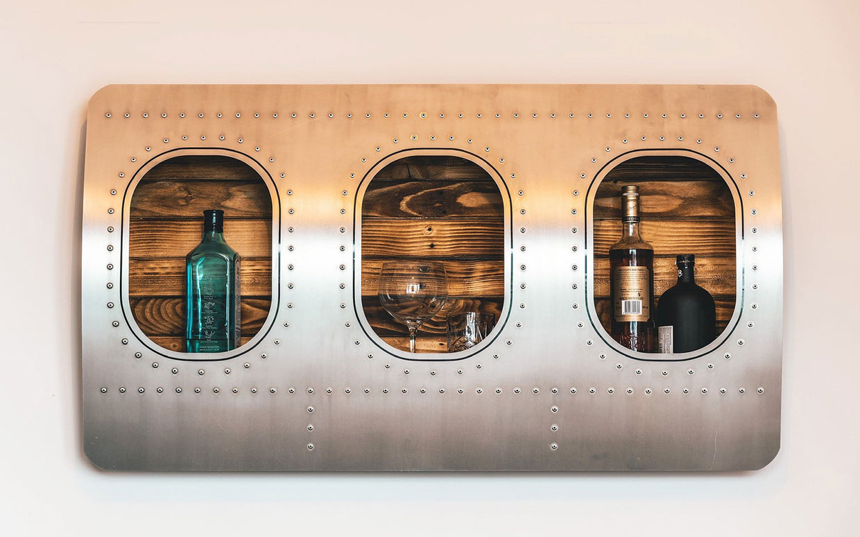 Aircraft Window Bar Shelf