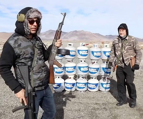 AK-47 vs Propane Tanks