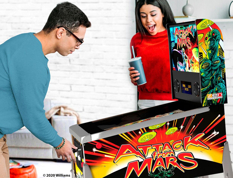 Attack from Mars Mini Pinball Machine