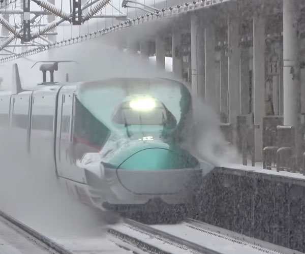Bullet Trains in the Snow