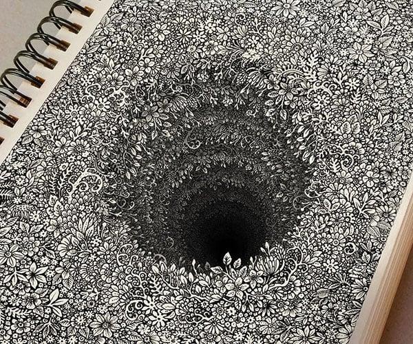 Floral Black Hole Illusion