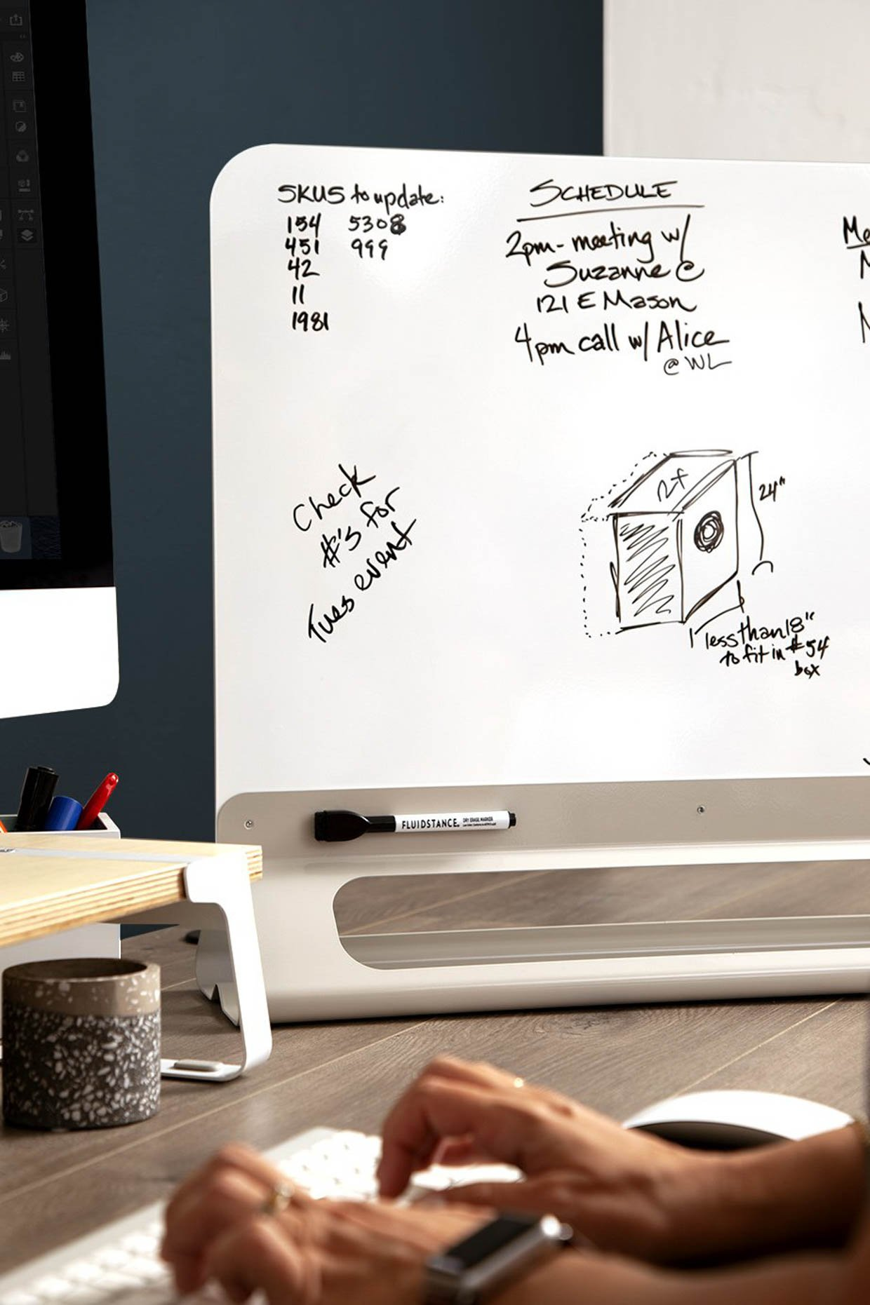 Fluidstance Wall Magnetic Whiteboard