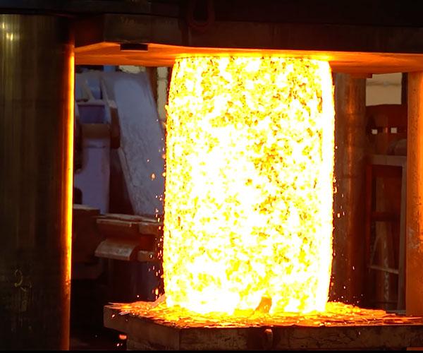 Hydraulic Press vs. Red Hot Steel