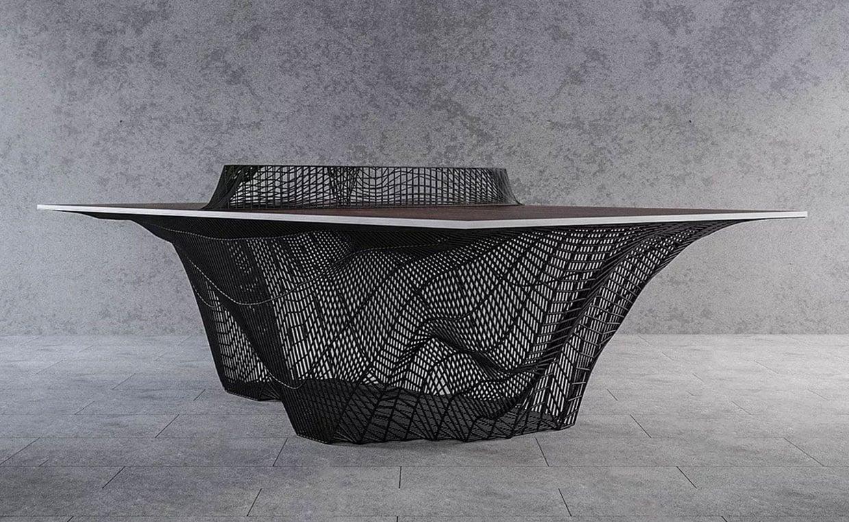Plexus 3D-Printed Ping Pong Table