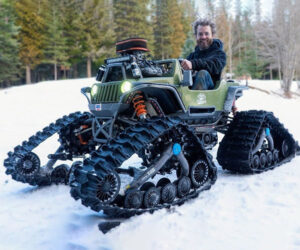 Power Wheels Jeep Gets Snow Tracks