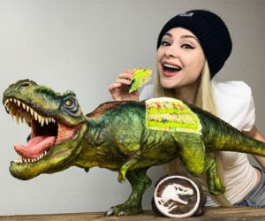 Realistic T-Rex Cake
