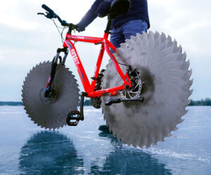 Saw Blade Bicycle on Ice