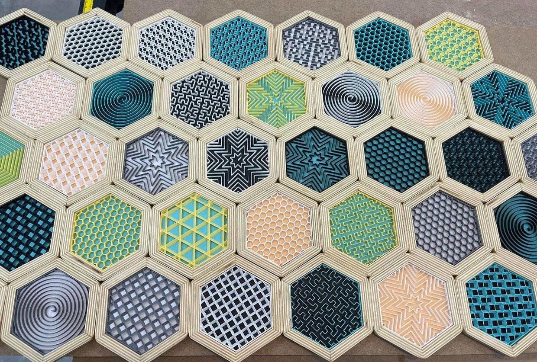 3D Infill Coasters