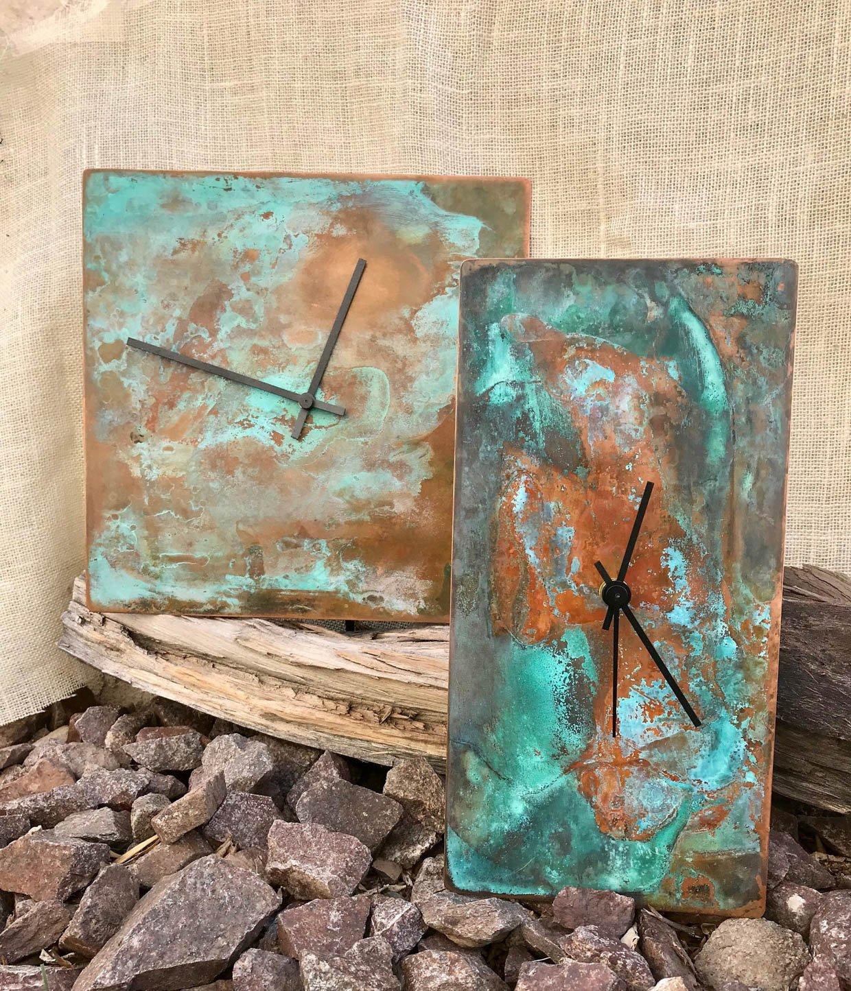 Arizona Copper Patina Clocks