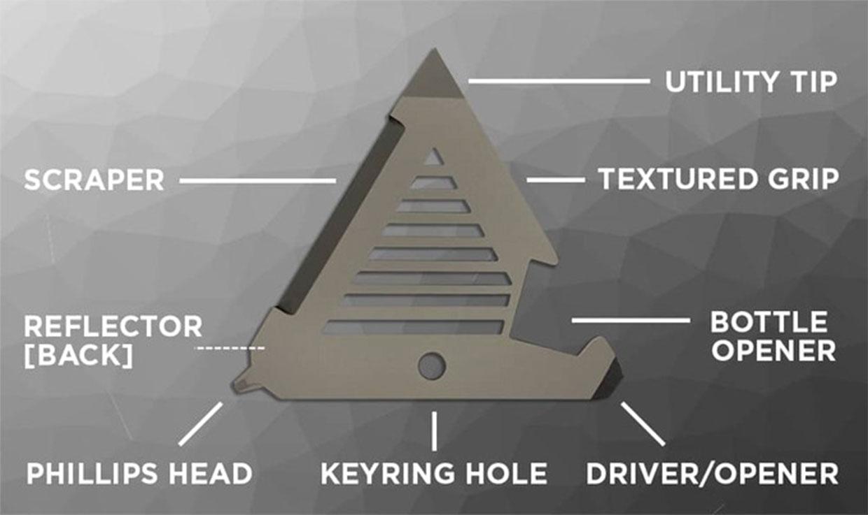 B.A.T. Tri-Tool Keychain Multitool