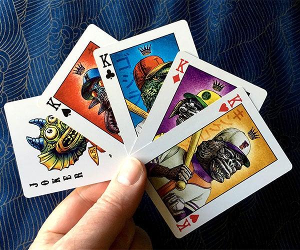 Kaiju Baseball Playing Cards