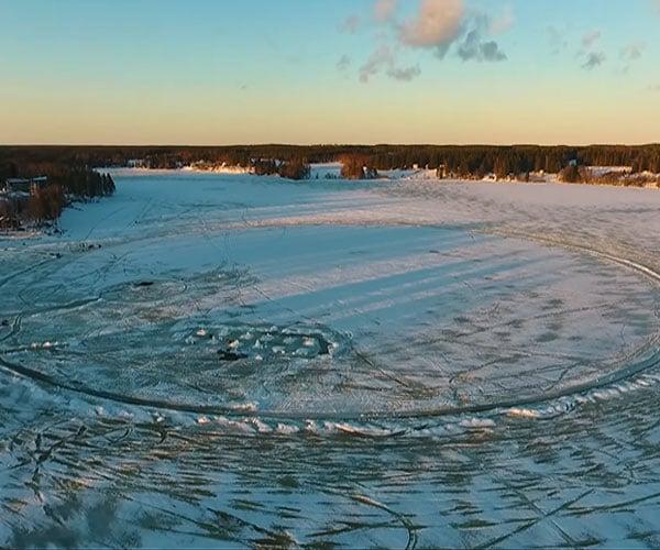World's Largest Ice Carousel