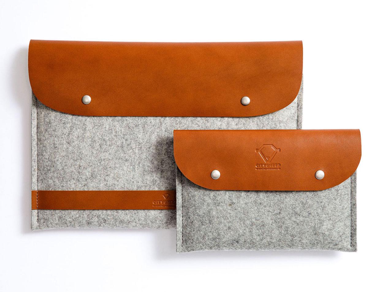 Wool Felt + Leather Cable Organizer