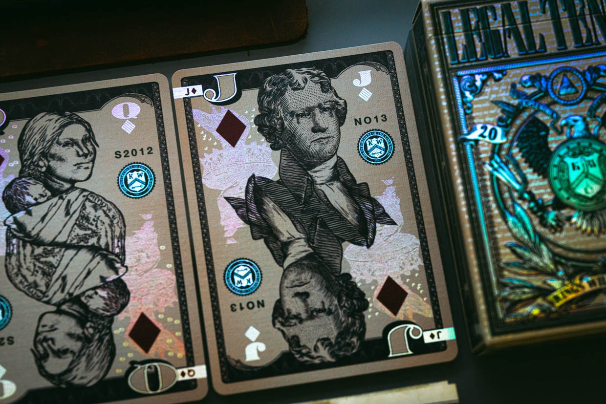 Holographic Legal Tender V.2 Playing Cards