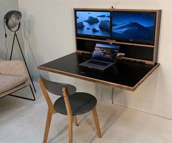 DropTop Folding Wall Desk