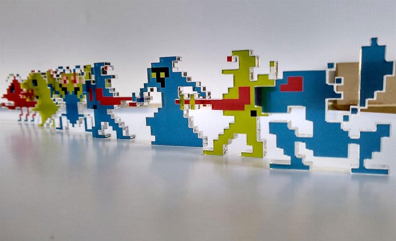 Pixel Art Plexiglass Sprites