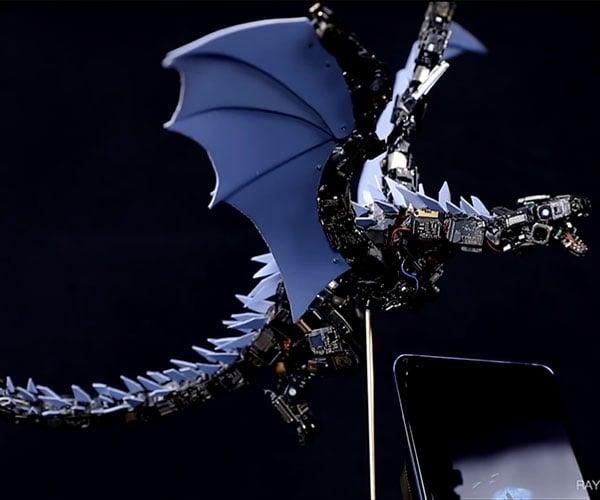 Smartphone Dragon Sculpture