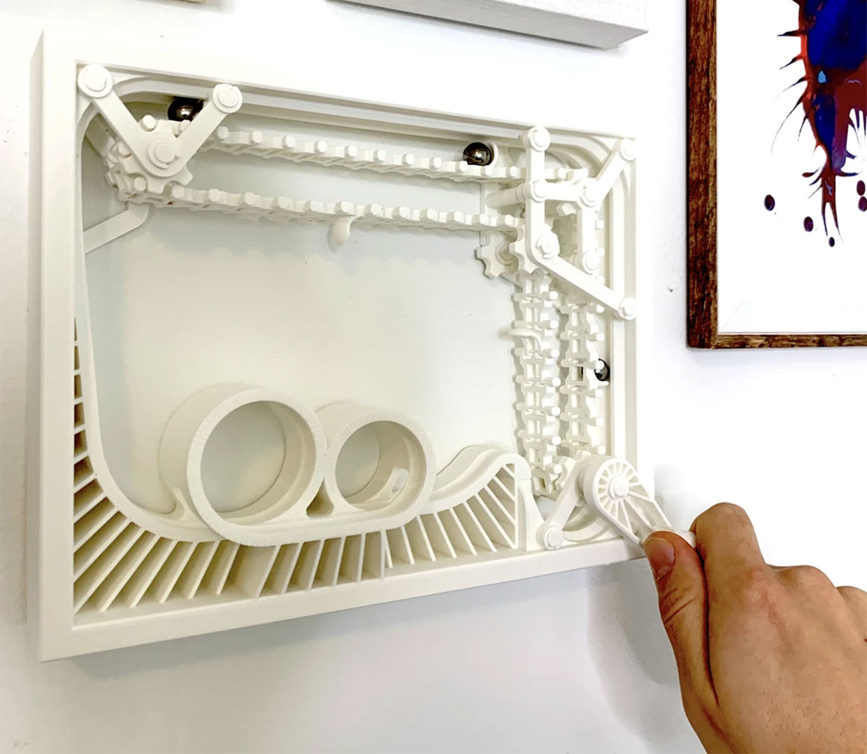 Wall-Mounted Marble Coaster