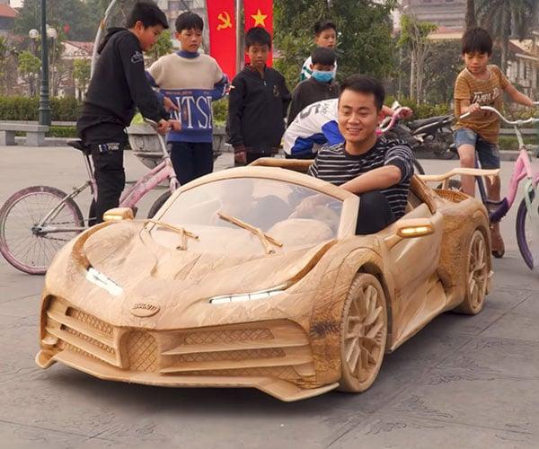 Wooden Bugatti Centodieci