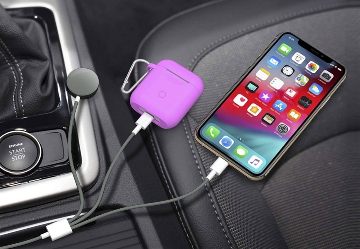 3-in-1 Apple Watch & Lightning Charger Cable