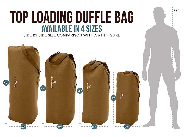 Bear & Bark Top Load Duffel Bag
