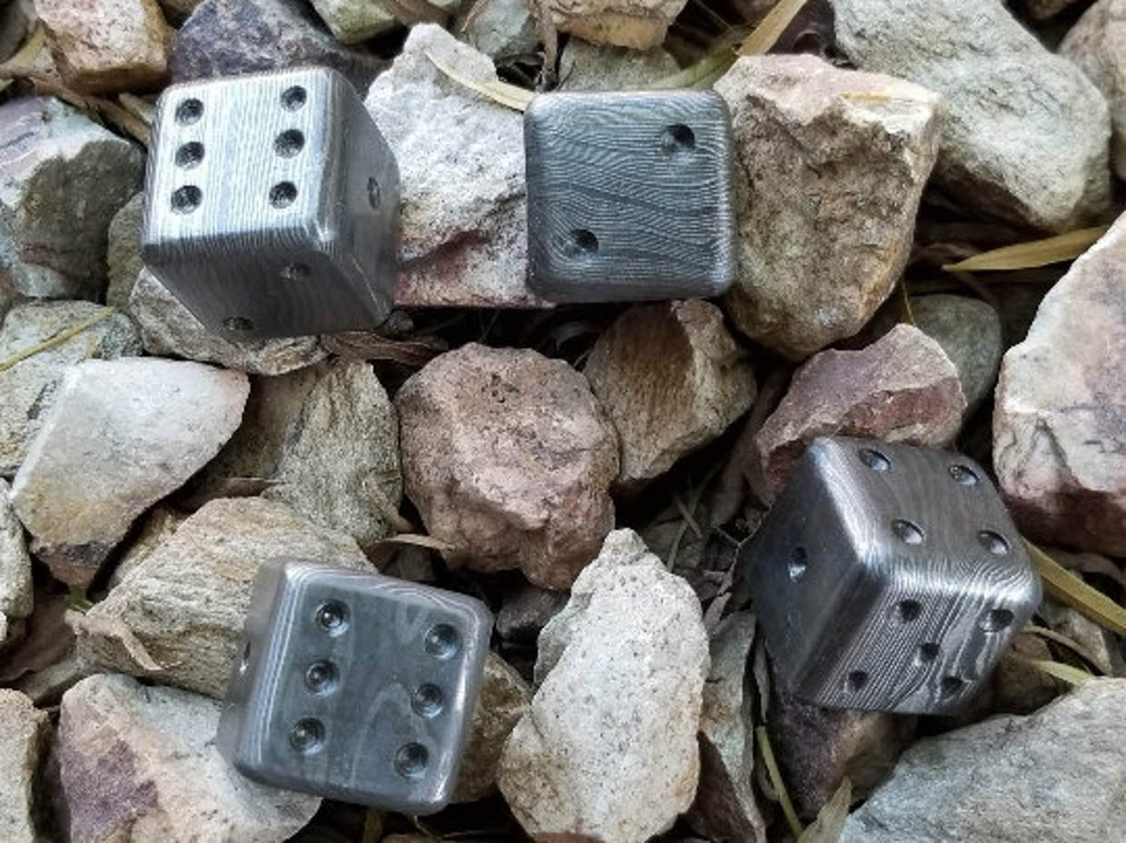 Damascus Steel Dice